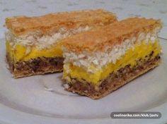 Ovaj recept dobila sam od kolegice, pod ovim imenom. Na internetu sam pronašla slične recepte, ali mislim da je ovaj nešto drugačiji. Idealan je za one koji vole kolače sa kokosom. Nije kompliciran za napraviti. Sa malo truda dobije se fini kolač. Bosnian Recipes, Croatian Recipes, Baking Recipes, Cake Recipes, Dessert Recipes, Rodjendanske Torte, Babka Recipe, Kolaci I Torte, Homemade Cakes