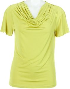 Misses Evan Picone Flutter Sleeve Drape Neck Top for only $29.40 You save: $19.60 (40%)