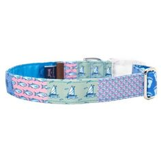 Vineyard Vines Patchwork Dog Collar   at Joss & Main to give Olivia a preppy Chic Summer! They have matching leashes too.