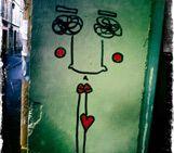 """Photo d'un tag à Marseille, """"Visage"""" par Jean Luc LUCIANI, artiste You Art Different"""