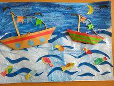 Crafts To Make, Crafts For Kids, School Door Decorations, School Doors, Art For Kids, Dream Catcher, Origami, Boat, Activities