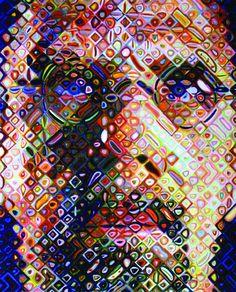 Chuck Close - Self portrait 2009 colour woodblock QUT Art Collection Chuck Close, Famous Artwork, Photography Projects, Teaching Art, Art Forms, Art Museum, Flower Art, Fashion Art, Modern Art