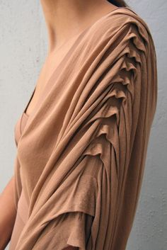 -layered -pleated -draping -loose -long That would make a fantastic dress                                                                                                                                                                                 More