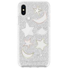 Rebecca Minkoff Glitter Galaxy Silver Glitter Case For Iphone X (115 PEN) ❤ liked on Polyvore featuring accessories, tech accessories, silver and rebecca minkoff