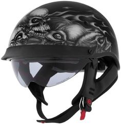 Cyber U-72 Skull Pile Motorcycle Street DOT Protection Adult Helmet
