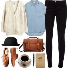 Untitled by hanaglatison on Polyvore featuring Acne Studios, Monki, J Brand and H&M