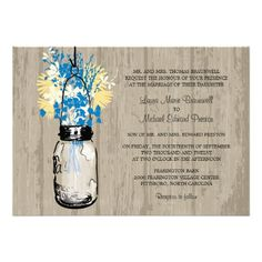 Discount DealsRustic Wood Mason Jar and Wildflowers Wedding Inviteyou will get best price offer lowest prices or diccount coupone