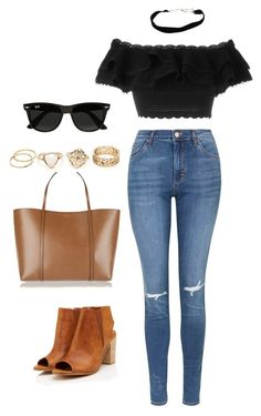 """""""Untitled #12"""" by yourism on Polyvore featuring Topshop, Alexander McQueen, Dolce&Gabbana and Ray-Ban"""
