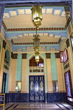 Bacardi Building's lobby, Havana, Cuba. More