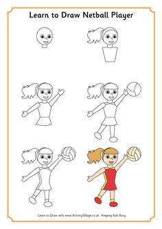 Learn to draw a netball player http://www.goodnetballdrills.com/4-netball-attacking-drills-for-quick-improvement/