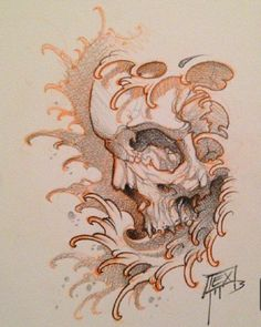Find the perfect tattoo artist to create the work of art that is you Sketch Tattoo Design, Skull Tattoo Design, Tattoo Sketches, Tattoo Drawings, Skull Rose Tattoos, Body Art Tattoos, Sleeve Tattoos, Tattoo Studio, Skull Reference