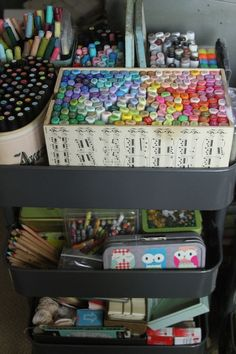 #papercraft #crafting #supply #organization #Copics room of Pam Garrison