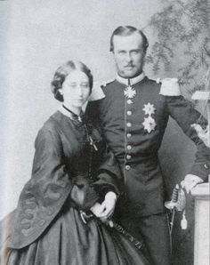 Princess Alice, Queen Victoria's 3rd child and 2nd daughter, with her husband Grand Duke Ludwig IV of Hesse and by Rhine.  Alice was the 2nd of Victoria's children to marry into German royalty.