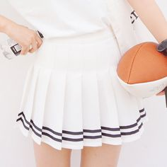 """use code: """"puririnhime"""" to get 10% OFF everytime you shop at www.sanrense.com Sweet college style student skirt"""