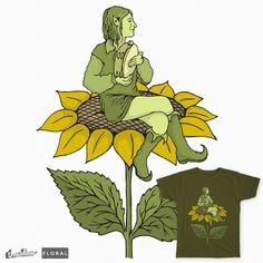 Elf on sunflower on Threadless