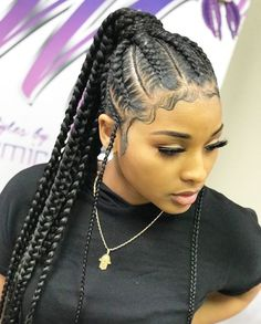 Braids hairstyles for black ladies