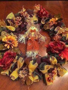 Fall Wreath Transform your front door with cuteness!Transform your front door with cuteness! Elegant Fall Wreaths, Easy Fall Wreaths, Diy Fall Wreath, Holiday Wreaths, How To Make Wreaths, Halloween Wreaths, Wreath Ideas, Burlap Halloween, Thanksgiving Wreaths