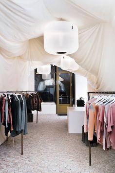 Pop-up shop for the Hungarian fashion brand Nanushka. Photo by Tamas Bujnovszky.