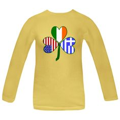 Share all your ancetries on Oxi Day, St. Patrick's Day and the 4th of July with this design. It shows a #shamrock with a different flag in each leaf: #Greece, Ireland and United States of America. Fun way to share your love of your Greek, Irish and American heritages on every occasion. $27.99 http://ink.flagnation.com from your @Auntie Shoe