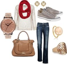 """""""casual fall"""" by britnicole on Polyvore"""