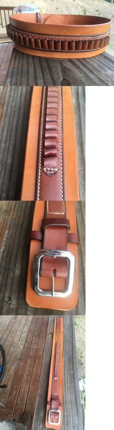 Ammunition Belts and Bandoliers 177884: Triple K Brand Leather Rooster Cogburn Deluxe Belt Two Tone 38 Cal Loops 794 Sm -> BUY IT NOW ONLY: $79.99 on eBay!
