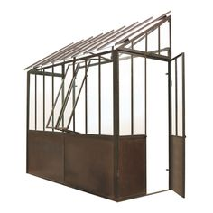 Maisons du monde greenhouse medium oxide metal h h tiles 245 cm While historic with House Without Walls, What Is A Conservatory, Victorian Conservatory, Loafing Shed, Backyard Trampoline, Backyard House, House Porch, Storage Shed Plans, Pergola Attached To House