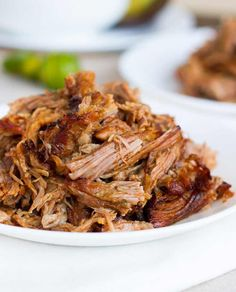 These easy crockpot carnitas are simple enough for anyone to make! Broiling them just before serving gives a browned, crispy crust to the meat. SO good!