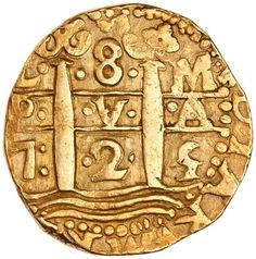 Gold 8 escudo of Louis I, Lima (Peru), Vintage Slot Machines, Metal Detecting Finds, Pirate Coins, American Coins, Gold Money, Gold And Silver Coins, Antique Coins, World Coins, Ancient Architecture