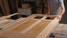 Easier than you think to make and install, a custom door stands out Wood Entry Doors, Wooden Doors, Interior Barn Doors, Exterior Doors, Woodworking Courses, Woodworking School, Fine Woodworking, Wood Shop Projects, Sliding Barn Door Hardware