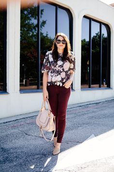 I have always loved matching separates. There is something very Jackie O about two pieces that match completely for one outfit, don't you think? I have been seeing this trend pop up from time to. Matching Separates, Burgundy Pants, Third Way, Business Casual Outfits, Mom Outfits, Two Pieces, Work Fashion, What To Wear, Winter Fashion
