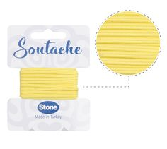 Cordon soutache 3mm maize ST1480 x 2.5m