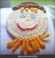 Scarecrow Towel Topper - free crochet pattern