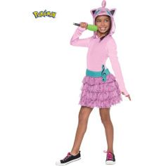 Nintendo Pokemon Jigglypuff Hoodie Includes: Hoodie dress with attached belt and microphone. Wholesale Halloween Costumes, Halloween Costumes For Girls, Halloween Cosplay, Girl Costumes, Costumes For Women, Halloween 2018, Jigglypuff Costume, Pokemon Jigglypuff, Nintendo Pokemon