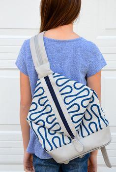 ikat bag: Zip A Bag Chapter 10: Diamond-Front Backpack