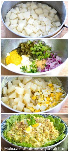Italian Chopped Salad, Chopped Salad Recipes, Easy Salad Recipes, Cake Recipes, Dinner Recipes, Chicken Potato Salad, Kfc Chicken Recipe, Best Potato Salad Recipe, Southern Style Potato Salad