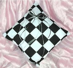 Race car themed wedding ring bearer's pillow  #nascarwedding