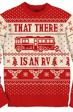 Cousin Eddie RV Christmas Sweater made by Ripple Junction in collections: Movies: Christmas Vacation, & Department: Adult Mens, & Color: White Couple Christmas, Tacky Christmas Party, Griswold Family Christmas, Tacky Christmas Sweater, Winter Christmas, Holiday Fun, Christmas Holidays, Mens Christmas Sweaters, Happy Holidays