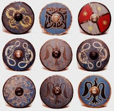 Viking Shields, scandinavian symbols                                                                                                                                                                                 More