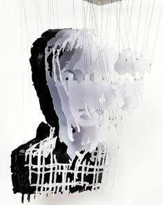 Michael Murphy sculpture portraits Obama layers installation