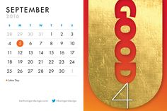 September is all about U! Do good. Be good. Think good thoughts. It's all good! Beth Singer Design: helping those who do good, do better.