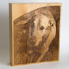 Small Saints customer-ordered exclusive keepsake vessel/urn for the kind, lovely dog, Sandi.