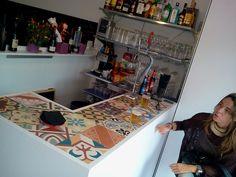 patchwork de baldosa hidráulica en barra