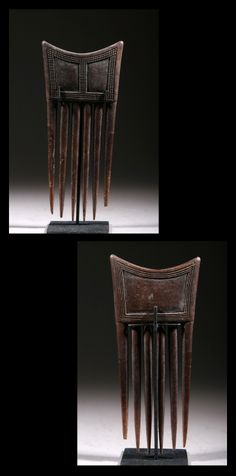 Africa | Comb from the Baule people of the Ivory Coast | Wood | Last quarter 20th century