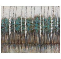Birch Trees Wall Art Painting | Scenario Home