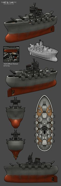 LOWPOLY (sub 1000~ triangle models) - Polycount Forum Nice idea for dwarf's dreadnought.