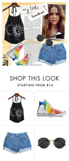 """CAMI TOP WITH SHEIN"" by natasa-topalovic ❤ liked on Polyvore featuring Converse, Levi's and Dries Van Noten"