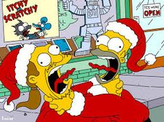 homer fighting with comic book guy
