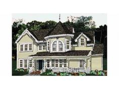 Eplans Victorian House Plan - Four Bedroom Victorian Eclectic - 2270 Square Feet and 4 Bedrooms from Eplans - House Plan Code HWEPL59481