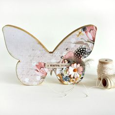 Wooden butterfly home decor // wooden art // by INKDstationery