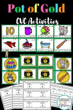Are you ready for some fun CVC word activities for Kindergarten or First Grade? - Real Time - Diet, Exercise, Fitness, Finance You for Healthy articles ideas First Grade, Second Grade, Grade 1, Kindergarten Activities, Phonics Activities, Holiday Activities, March Themes, Thing 1, Teaching Resources